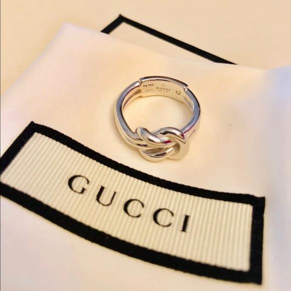 1c77ac5cf Gucci Jewelry | New Sterling Silver Piccolo Knot Ring Sz 6 | Poshmark